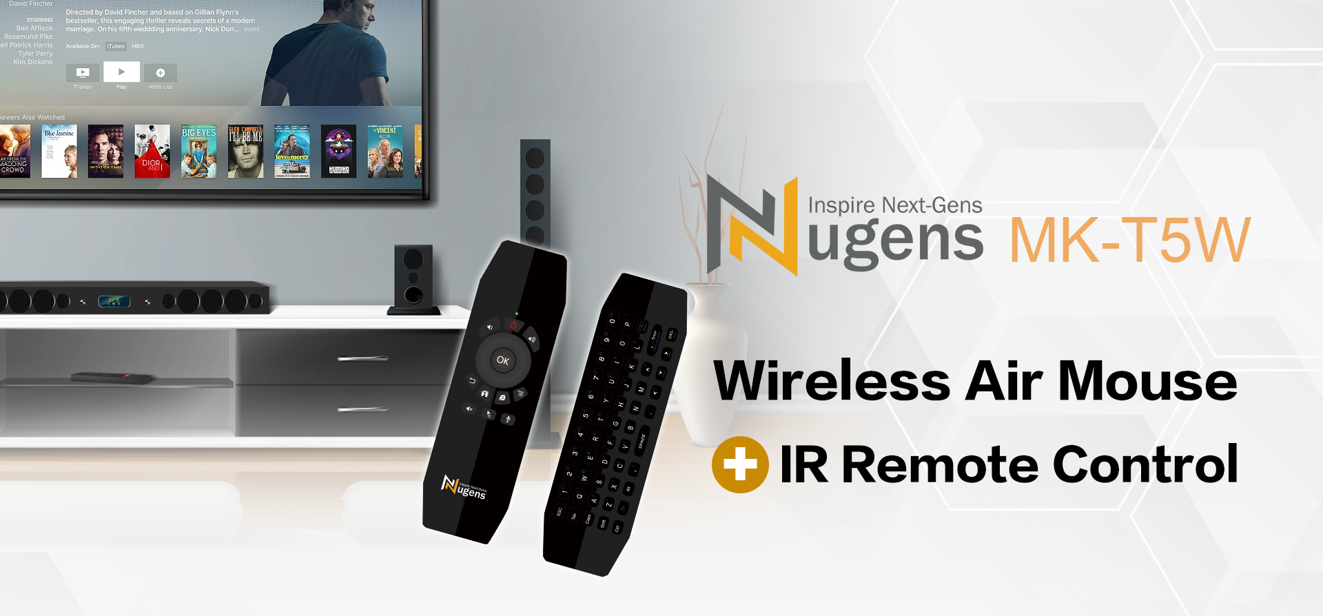 Wireless Air Mouse + IR Remote Control