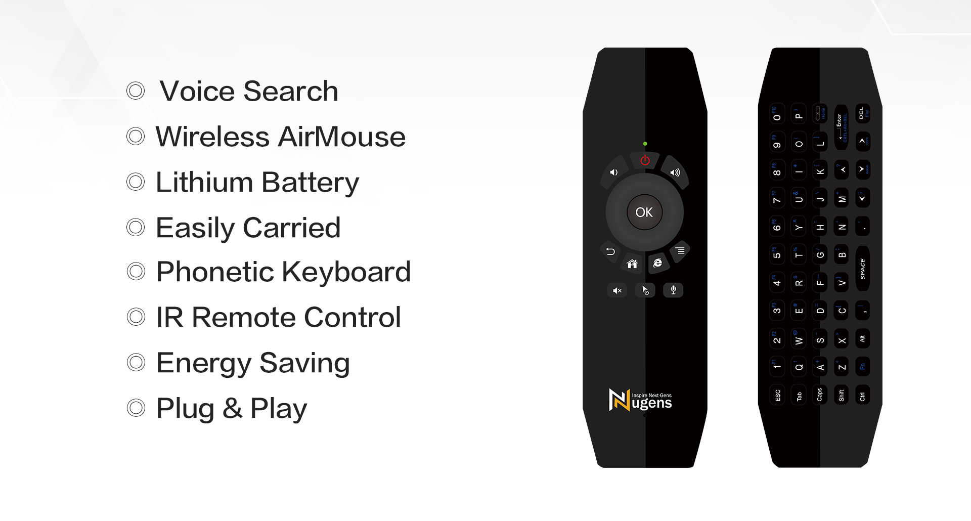 Voice Search,Wireless AirMouse,Lithium Battery,Easily Carried,IR Remote Control,Energy Saving,Plug & Play