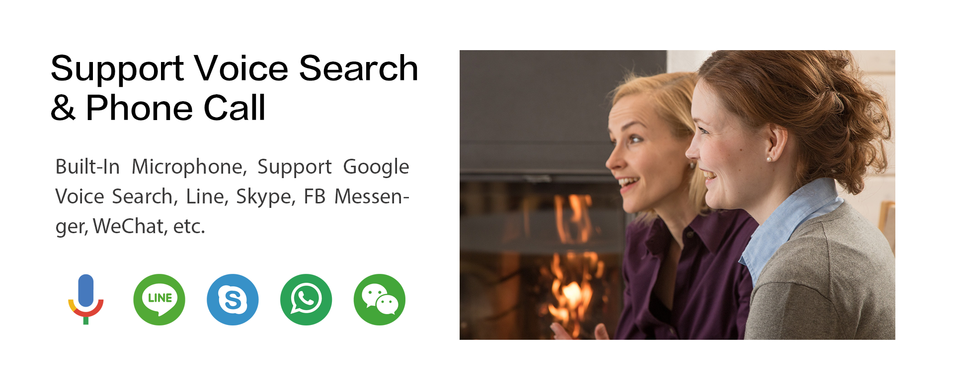 Support Voice Search & Phone Call